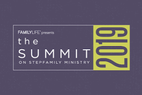 Promo banner for the summit on stepfamily ministry October 24-25, 2019