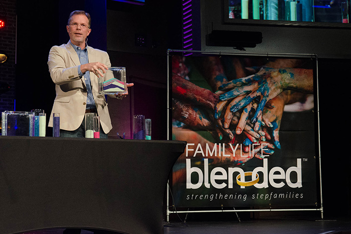 Ron Deal talking at Blended Blessed Event.