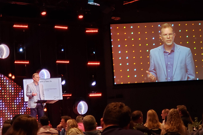 Ron Deal talking at the North Point Community Church